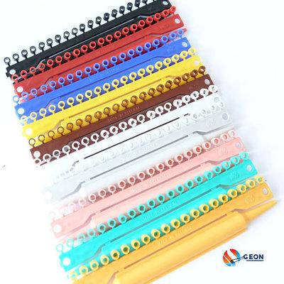 Set Split PVC ringen 4 mm 10x20 st. 10 kleuren
