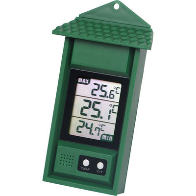 Thermometer minimum-maximum DIGITAAL, groen