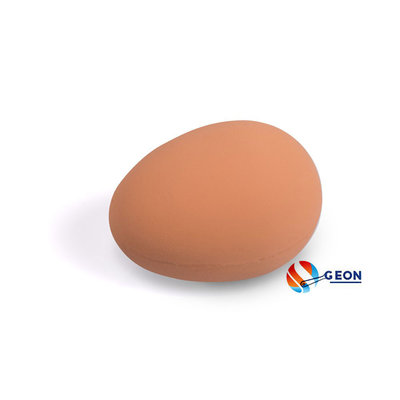 Rubber nest-ei bruin 56mm