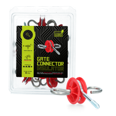 ZoneGuard Poortgreepankerisolator rood (RVS)