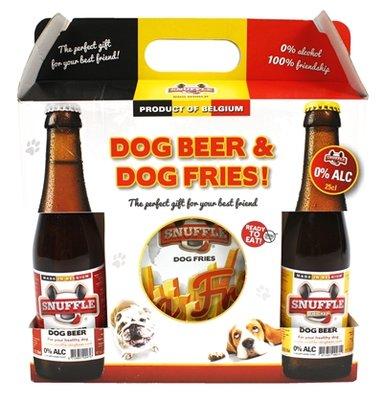 Snuffle gift box hondenbier en patat