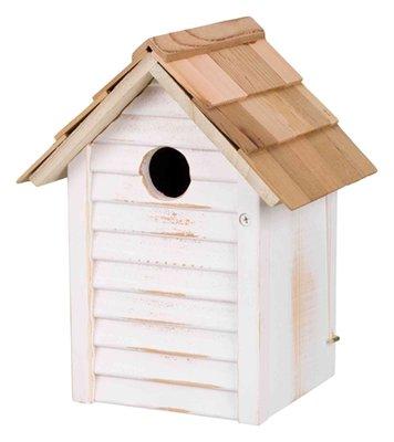 Trixie nestkastje huisje hout wit