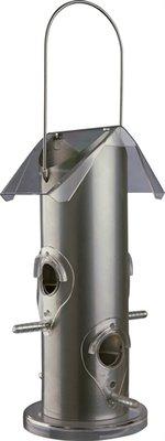Trixie voerdispenser metaal / kunststof zilver