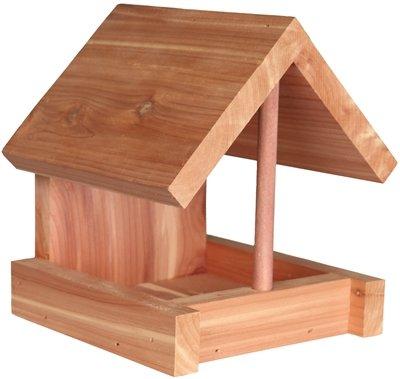 Trixie natura voederhuis voor vaste montage cederhout natuur