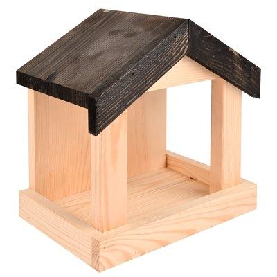 Voederhuis voor aan de muur hout