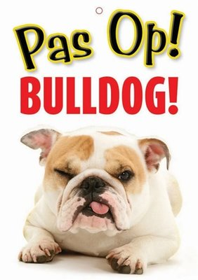 Waakbord nederlands kunststof bulldog