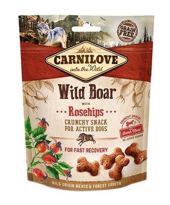 Carnilove crunchy snack everzwijn / rozenbottel