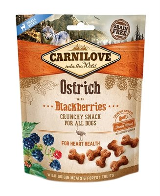 Carnilove crunchy snack struisvogel / zwarte bes