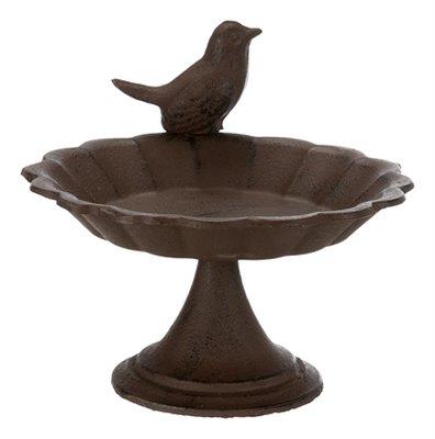 Trixie vogelbad op voet gietijzer bruin