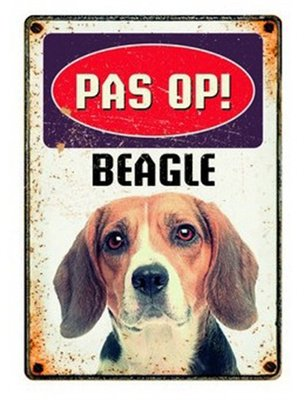 Plenty gifts waakbord blik beagle