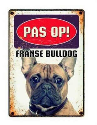 Plenty gifts waakbord blik franse bulldog
