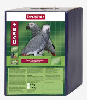 Beaphar Care+ grijze roodstaart papegaai 5 kg.