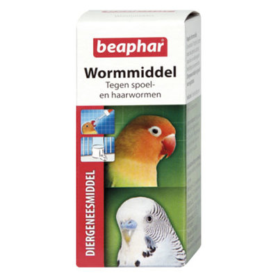 Beaphar wormmiddel vogels 10 ml.