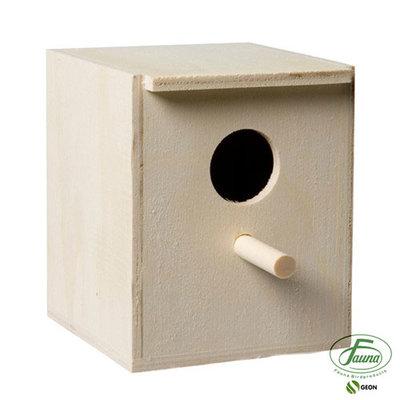 Broedkastje exoten 3,2 cm houtkleur 10,5x11x13,5 cm
