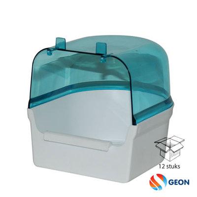 Badhuis groot Wit / Blauw transparant
