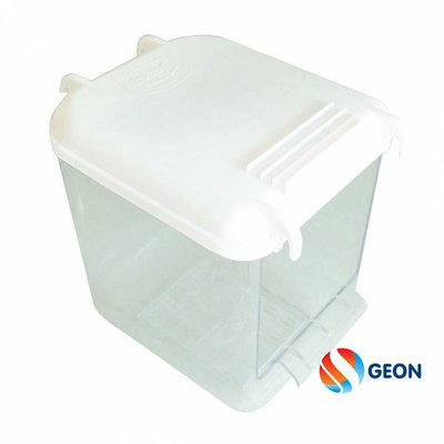 Transparante waterbakje